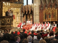 A Service of Holy Communion at the Inauguration of the Tenth General Synod of the Church of England led by The Dean of Westminster The Very Reverend Dr John Hall. PICTURE SHOWS :